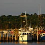Montauk Harbor At Dawn Poster