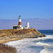 Montauk Point From Camp Hero Poster
