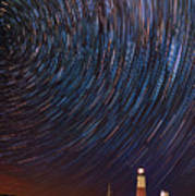 Montauk Star Trails Poster