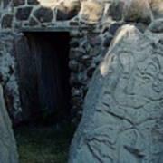 Monte Alban Danzantes Stone Poster