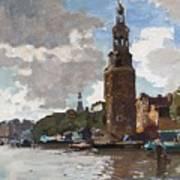 'montelbaanstoren' In Amsterdam By Cornelis Vreedenburgh Dutch 1880-1946 Poster