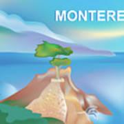 Monterey Bay California Horizontal Scene Poster