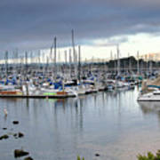 Monterey Harbor - California Poster by Brendan Reals