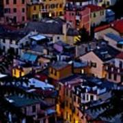 Monterosso By Night Poster