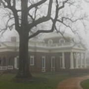 Monticello In The Fog Poster