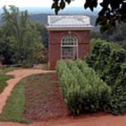Monticello Vegetable Garden Pavilion Poster