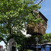 Montmarte Paris Windmill Poster