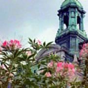 Montreal Bldg Among Flowers Poster
