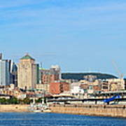 Montreal City Skyline Over River Panorama Poster
