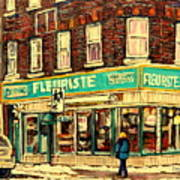 Montreal Cityscenes By Streetscene Artist Carole Spandau Poster