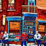 Montreal Wilensky Deli By Carole Spandau Montreal Streetscene And Hockey Artist Poster