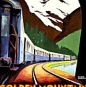 Montreux, Golden Mountain Railway, Switzerland Poster