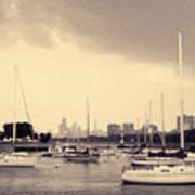 Montrose Harbor Skyline Poster