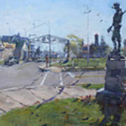 Monument At Pine Ave And Portage Rd Poster