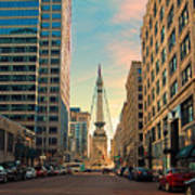 Monument Circle - Indianapolis Poster