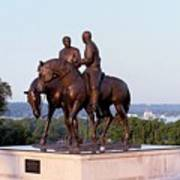 Monument In Nauvoo Illinois Of Hyrum And Joseph Smith Riding Their Horses Poster