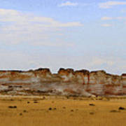 Monument Rocks In Western Kansas Poster