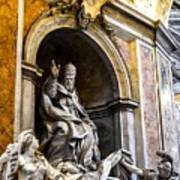Monument To Pope Gregory Xiii In St Peter's Basilica Poster