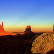 Monument Valley Evening Poster