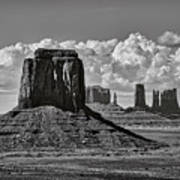Monument Valley In Black And White  Poster