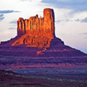 Monument Valley Sunset One Poster