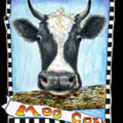 Moo Cow In Black Poster