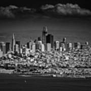 Moody Black And White Photo Of San Francisco California Poster
