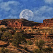 Moon Over Canyonlands Poster