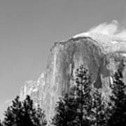 Moon Over Half Dome Poster