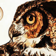 Moon Owl Poster