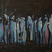 Moon Watchers Poster by Paula Marsh