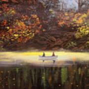 Moonlight Canoeing Poster