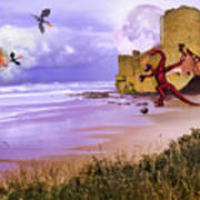 Moonlight Dragon Attack Poster