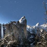 Moonlit Bridalveil  Falls-yosemite Valley Poster