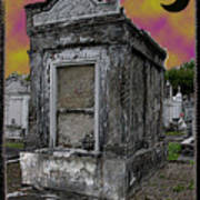 Moonlit Cemetary Poster