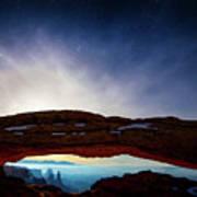 Moonlit Mesa Poster