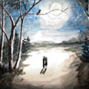 Moonlit Night Sweet Memory Poster