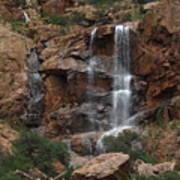 Moonlit Waterfall Poster