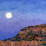 Moonrise Over Gallup Poster