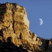 Moonrise Over Grand Canyon Poster