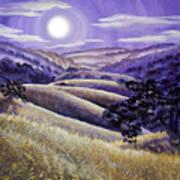 Moonrise Over Monte Bello Poster