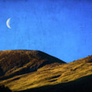 Moonrise Over Queenstown Poster