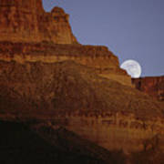 Moonrise Over The Grand Canyon Poster