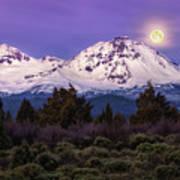 Moonset At Dawn Poster
