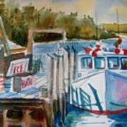 Moored Fishing Boat Poster