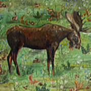 Moose Tapestry Poster