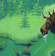 Moose Poster by Tracy L Teeter
