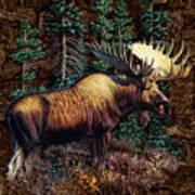 Moose Vignette Poster