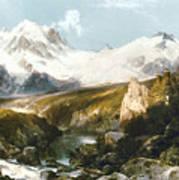 Moran: Teton Range, 1897 Poster