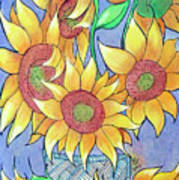 More Sunflowers Poster by Loretta Nash